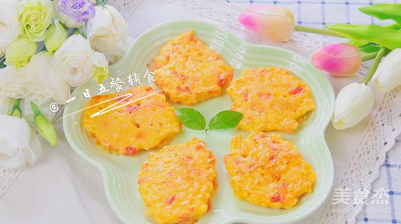 番茄鸡蛋奶酪米饼 宝宝辅食,奶香软嫩口感好成品图
