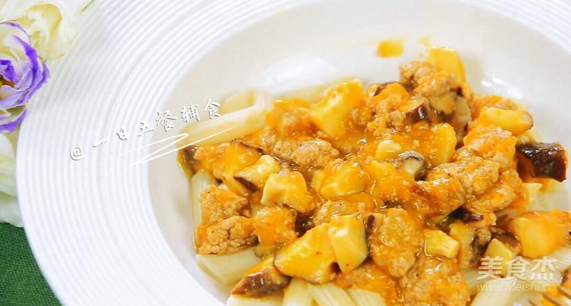 香菇肉末盖浇面 宝宝辅食,空心管面+胡萝卜+柠檬汁怎样煸