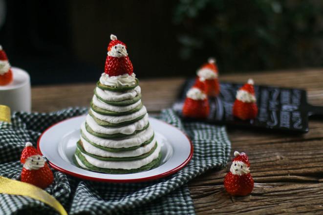 菠菜厚松饼圣诞树——宝宝辅食怎么炖