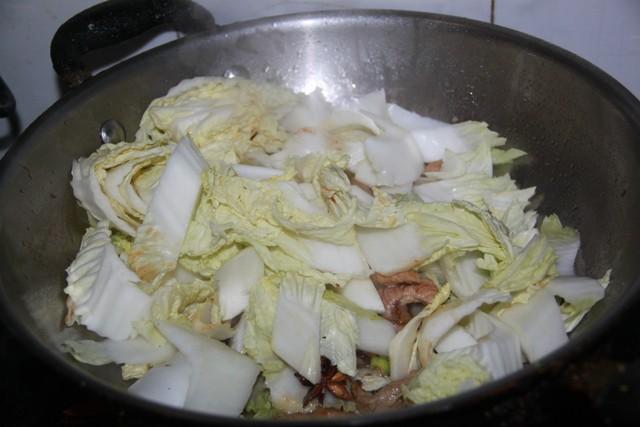 香菇炖白菜怎么炖