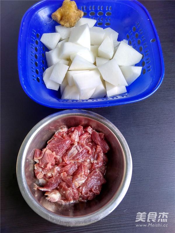 白萝卜肉片汤的做法图解