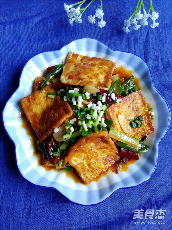 香煎豆腐成品图