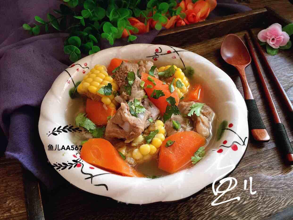 排骨玉米胡萝卜汤怎样做