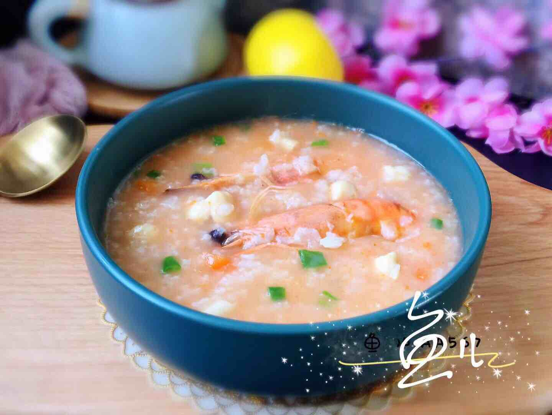 简单煮一煮,海鲜粥就上桌了,很适合冬天早餐哦!的制作