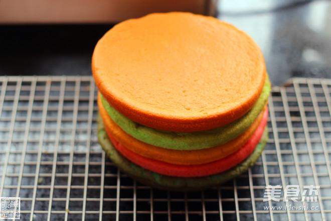 彩虹蛋糕怎么煸