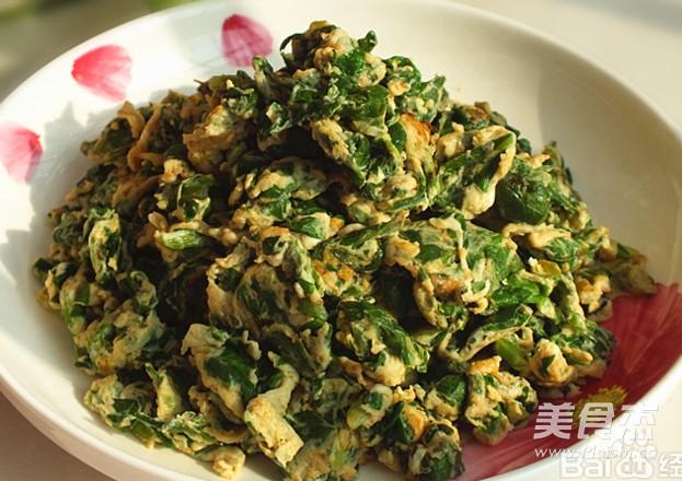 芹菜叶炒鸡蛋怎么做