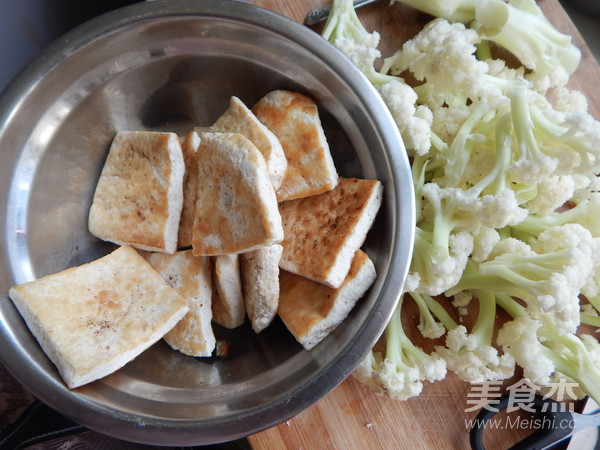 花菜炒豆腐的做法大全