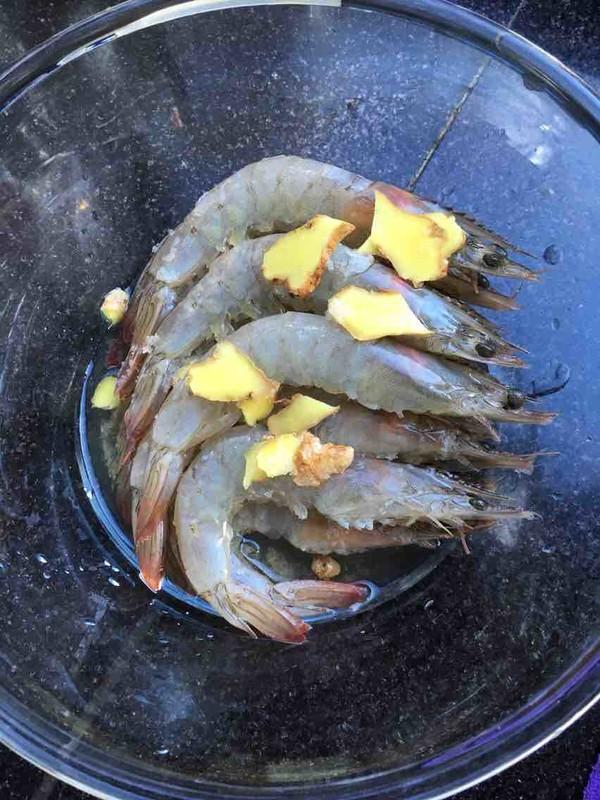 红椒炒海虾的做法图解