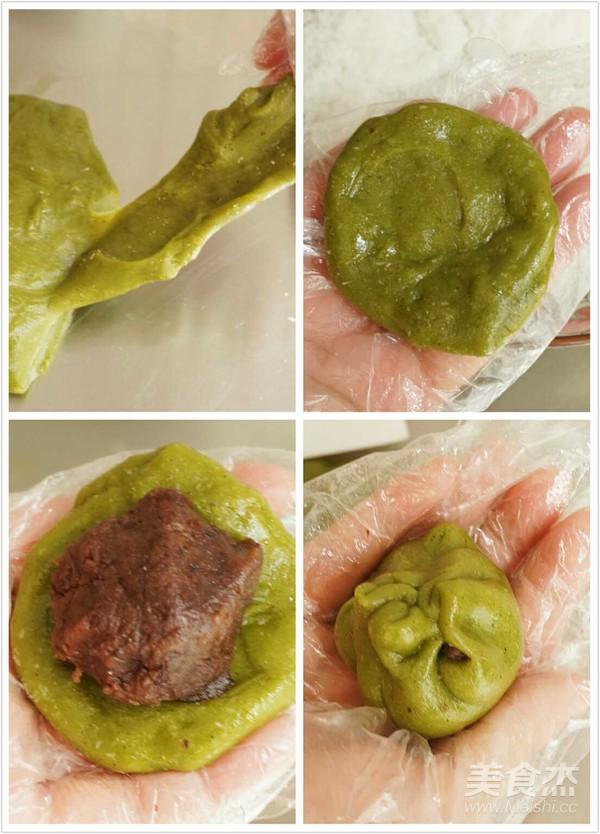 抹茶红豆沙糯米糍的简单做法