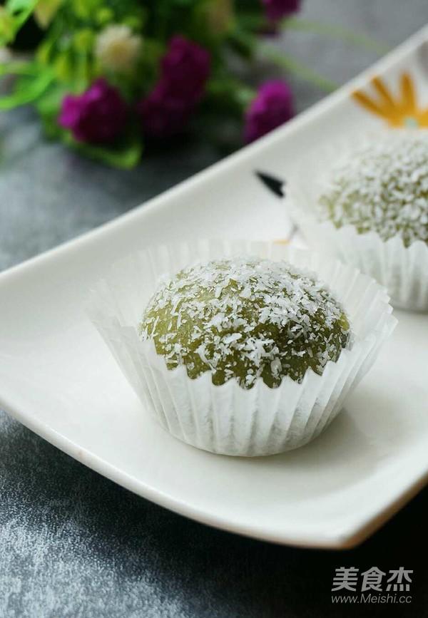 抹茶红豆沙糯米糍怎么做