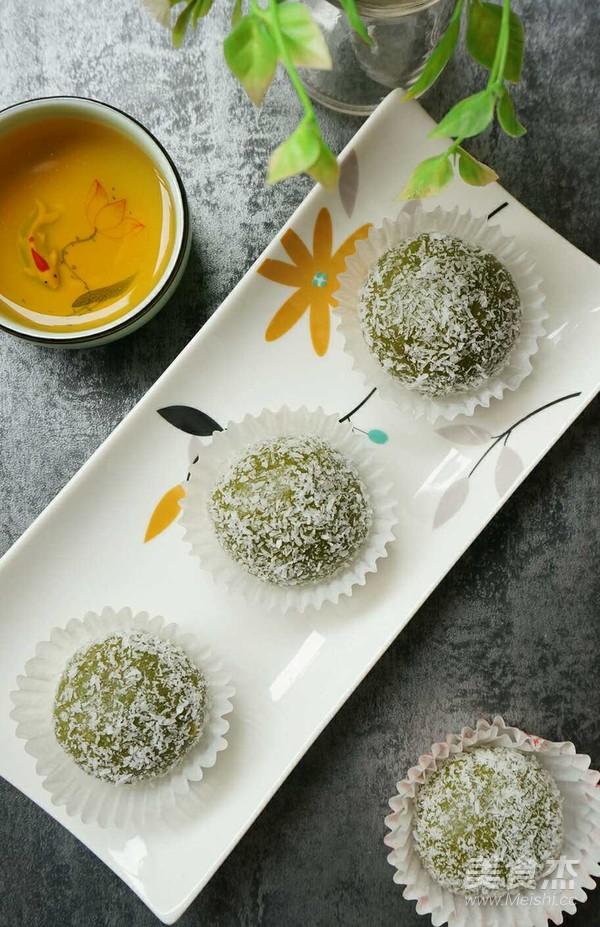 抹茶红豆沙糯米糍怎么煮