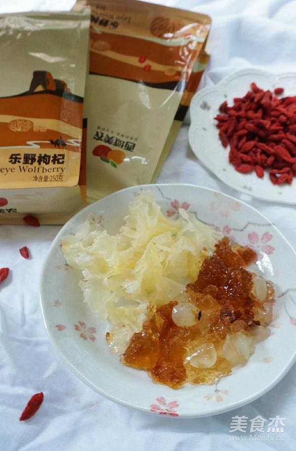 桃胶枸杞银耳甜汤的做法图解