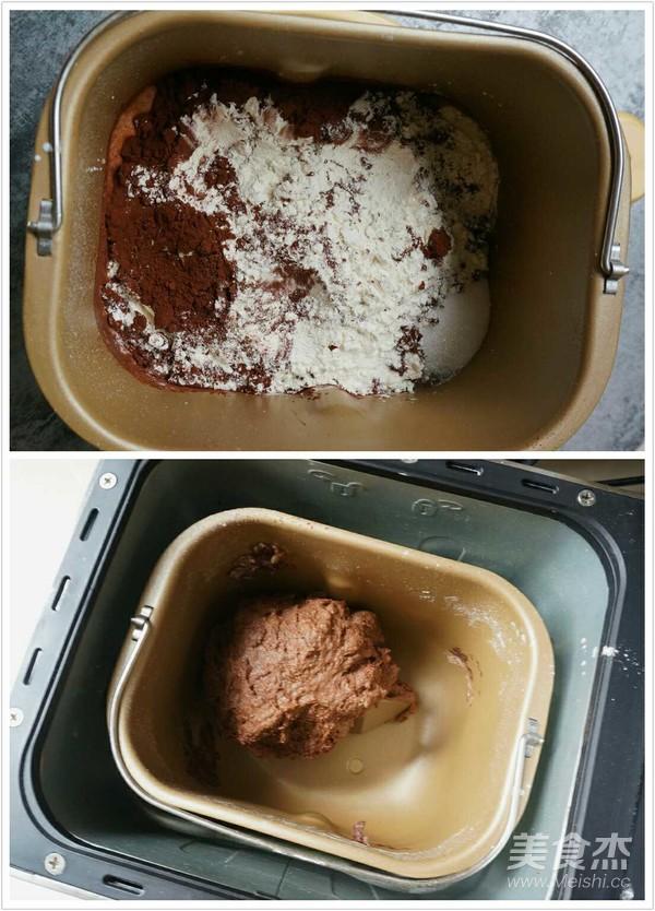 巧克力麻薯软欧的做法图解