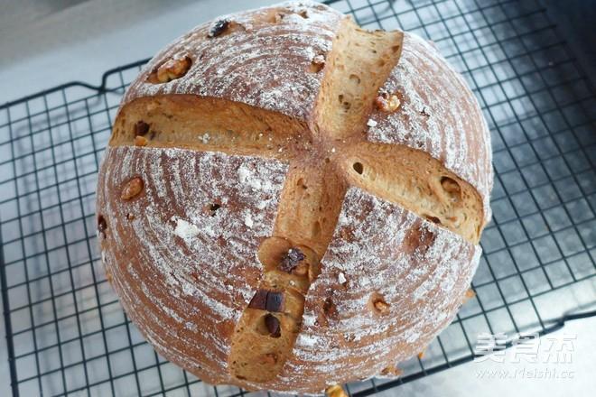 全麦核桃红枣面包的制作
