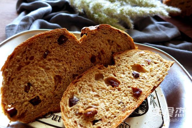 全麦核桃红枣面包的制作方法