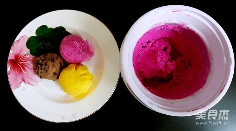 火龙果冰淇淋的步骤