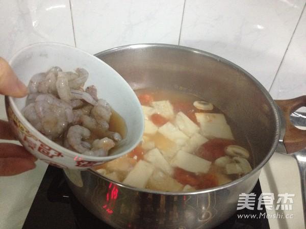 豆腐虾仁一锅鲜怎么炒