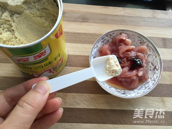 小炒西葫芦肉丝的做法图解