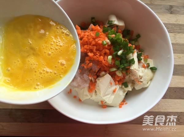 虾仁豆腐饼的家常做法