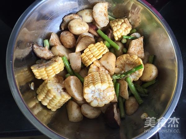 杂蔬烤排骨的简单做法