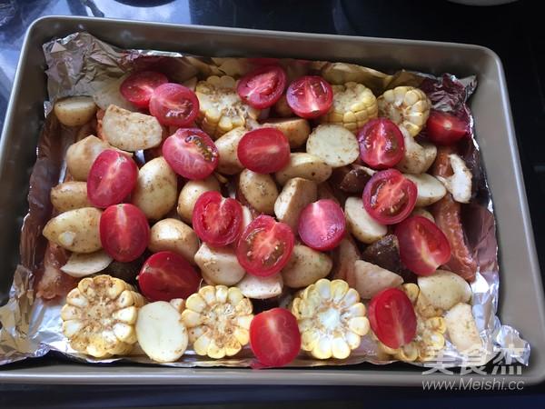 杂蔬烤排骨怎么做