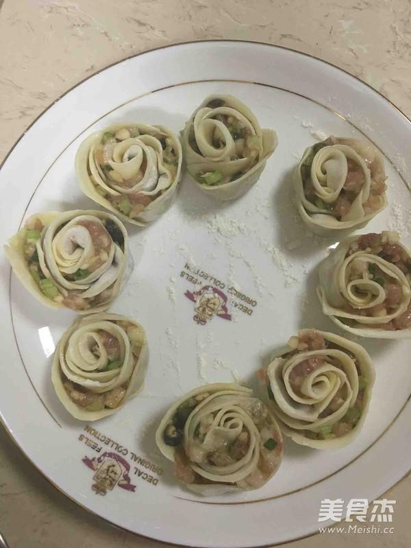 玫瑰饺子怎么做