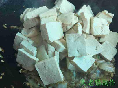 大白菜五花肉炖豆腐的制作