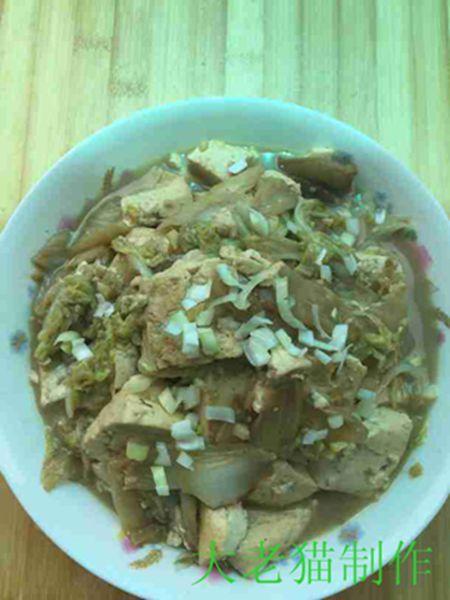 大白菜五花肉炖豆腐的制作大全