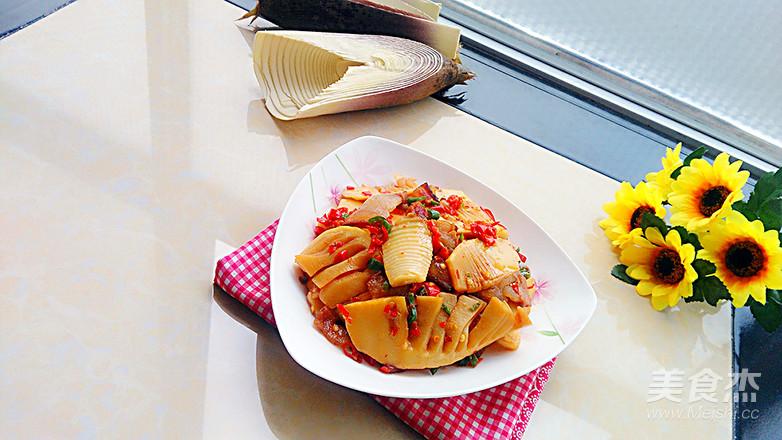 春笋炒腊肉的制作方法