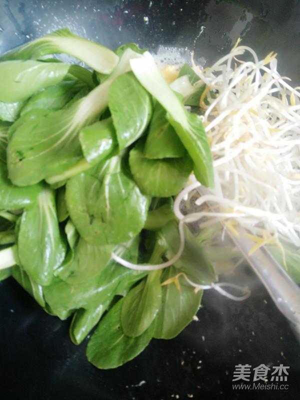 油菜炒扎粉的简单做法