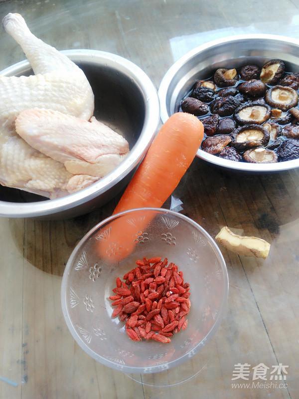 胡萝卜香菇炖鸡汤的做法大全