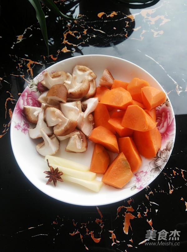 胡萝卜香菇烧翅根的做法图解