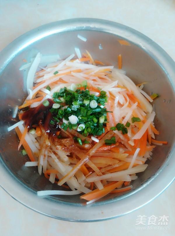 胡萝卜拌土豆丝怎么炒