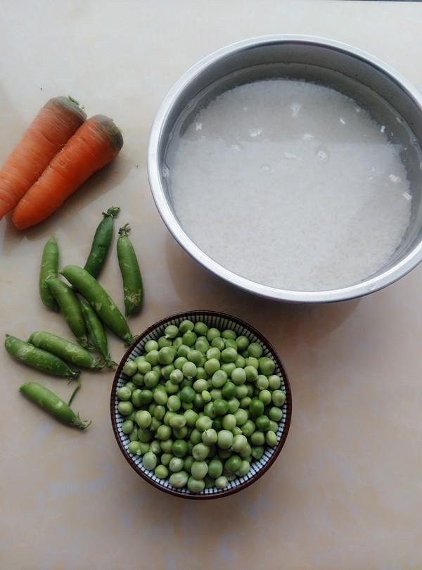 胡萝卜豌豆糯米饭的做法大全