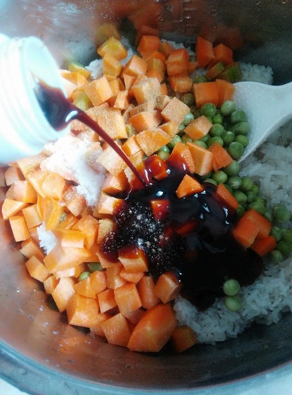 胡萝卜豌豆糯米饭怎么吃