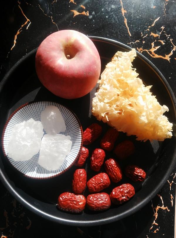 苹果红枣银耳羹的步骤