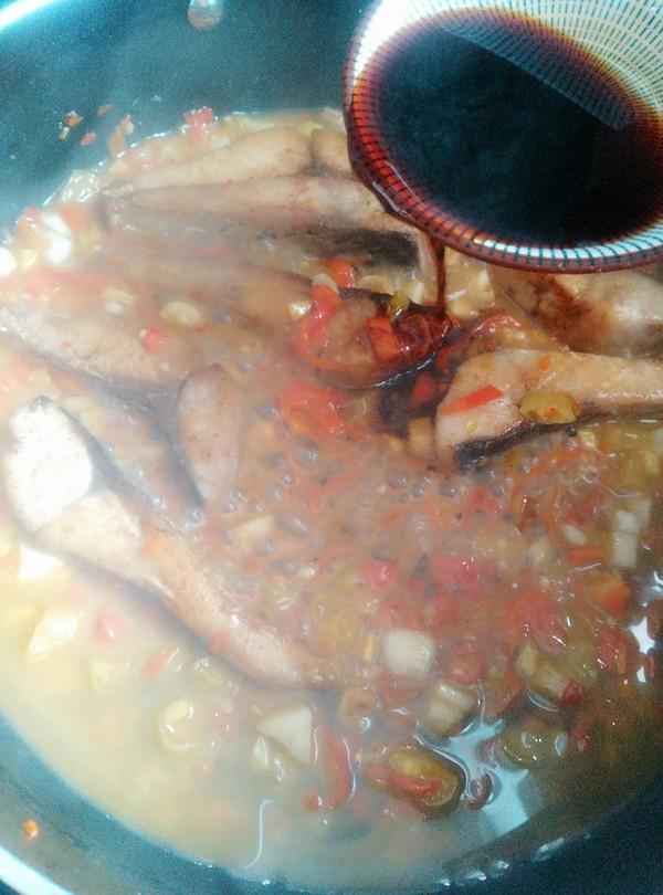 双椒烧鱼块怎么煮