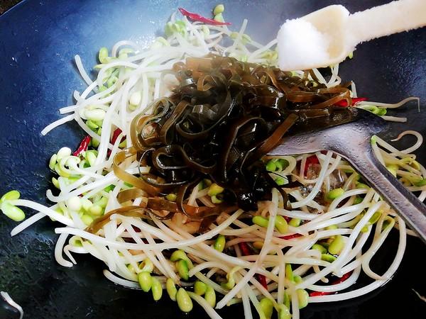 豆芽炒海带丝怎么吃
