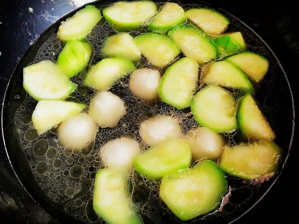 丝瓜鱼丸汤面的简单做法