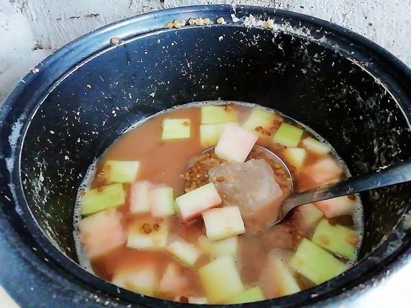 西瓜皮绿豆汤的简单做法
