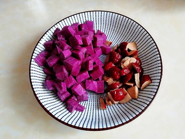 红枣紫薯米糊的做法图解