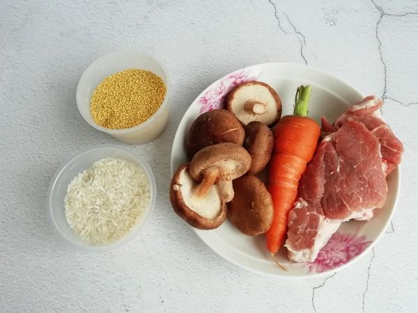 胡萝卜香菇瘦肉粥的做法大全