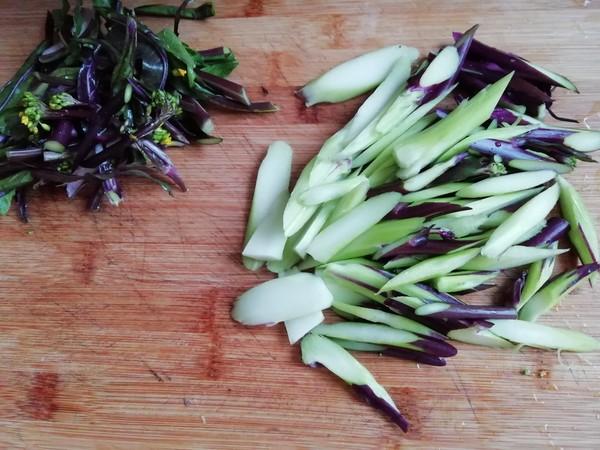 红菜苔炒鸡蛋的家常做法