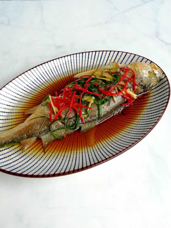 清蒸黄鱼成品图