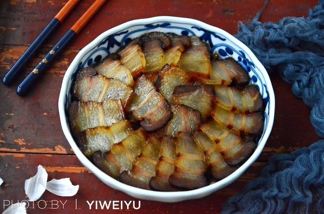 豇豆蒸腊肉成品图