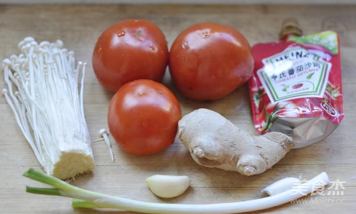 番茄金针菇菌汤的做法大全