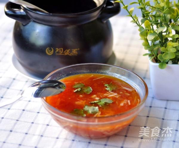 番茄金针菇菌汤怎样煸
