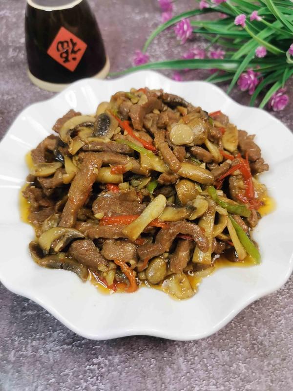 牛肉炒鲜蘑-高级减脂餐成品图