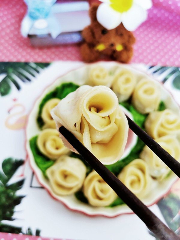 七夕玫瑰花饺子怎么煸