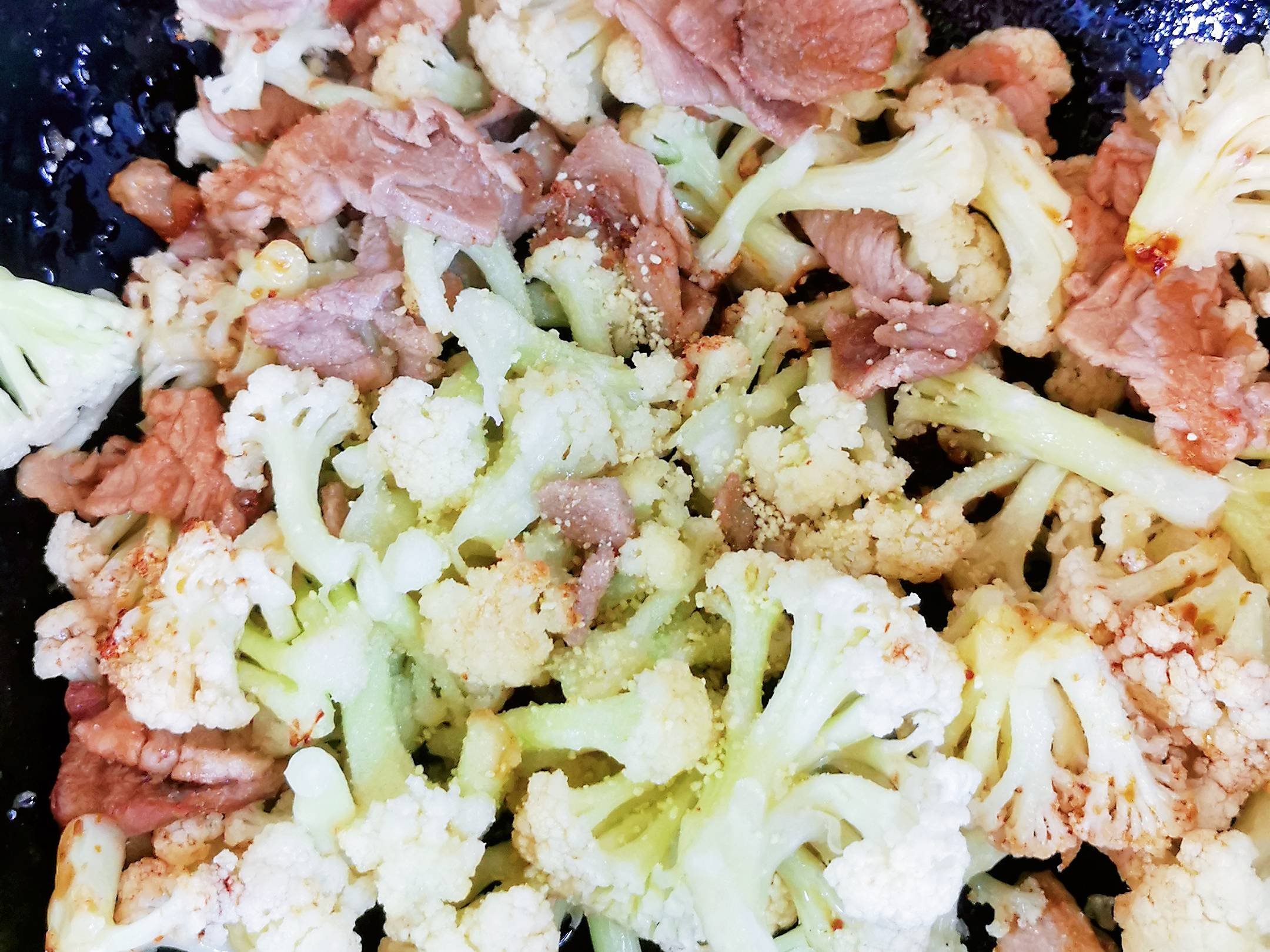菜花小炒肉怎么吃